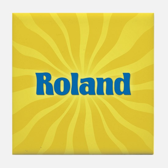 Roland Sunburst Tile Coaster