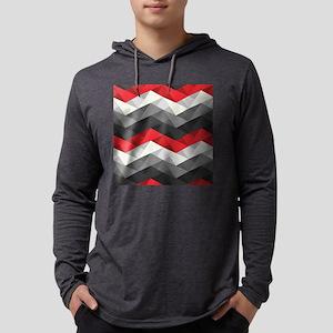 Abstract Chevron Mens Hooded Shirt