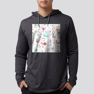 Circus Animals Mens Hooded Shirt