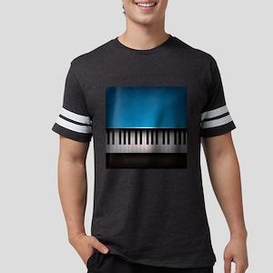 Grunge Piano Mens Football Shirt