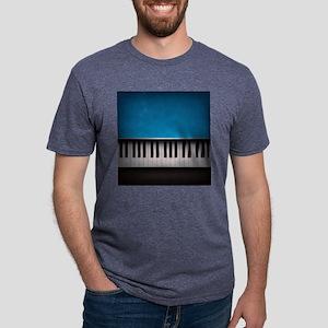 Grunge Piano Mens Tri-blend T-Shirt