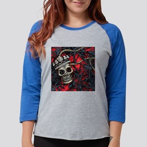 Skull and Spiders Womens Baseball Tee