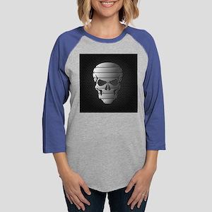 Chrome Skull Womens Baseball Tee