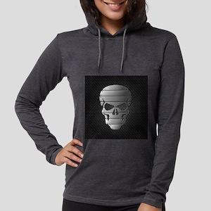 Chrome Skull Womens Hooded Shirt