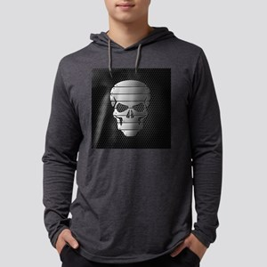Chrome Skull Mens Hooded Shirt