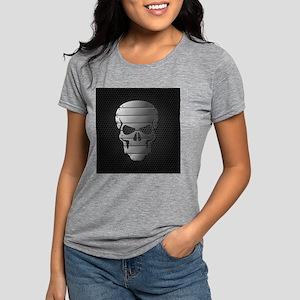 Chrome Skull Womens Tri-blend T-Shirt