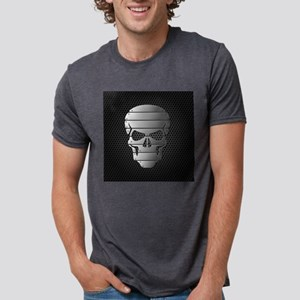 Chrome Skull Mens Tri-blend T-Shirt