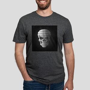 Chrome Skull Mens Tri-blend T-Shirt