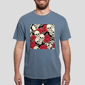 Flowers and Skulls Mens Comfort Colors Shirt
