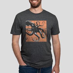 Octopus Mens Tri-blend T-Shirt