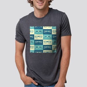 Hipster Glasses Mens Tri-blend T-Shirt