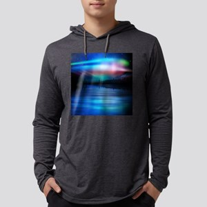 Northern Lights Mens Hooded Shirt