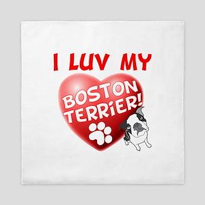 Luv My Boston Queen Duvet