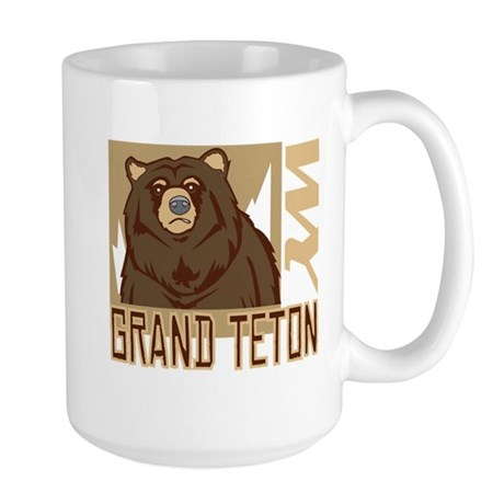 Grand Teton Grumpy Grizzly Large Mug