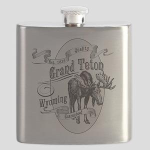 Grand Teton Vintage Moose Flask
