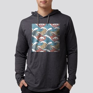 Colorful Waves Mens Hooded Shirt