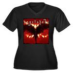 reverb store.jpg Women's Plus Size V-Neck Dark T-S
