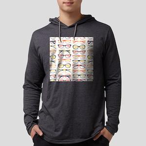 Hipster Glasses Mens Hooded Shirt