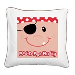 Pirate Bed-D-Bye Buddy Square Canvas Pillow