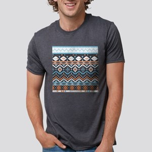 Native Pattern Mens Tri-blend T-Shirt