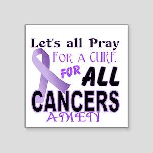 "All Cancer Square Sticker 3"" x 3"""