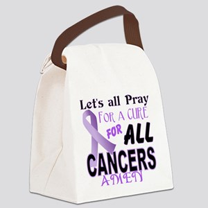 All Cancer Canvas Lunch Bag