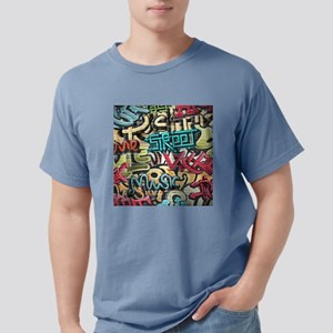Graffiti Wall Mens Comfort Colors Shirt