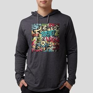 Graffiti Wall Mens Hooded Shirt