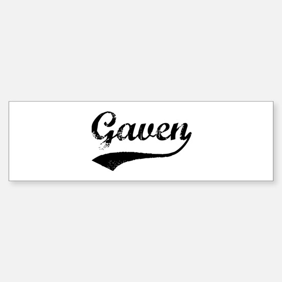 Vintage: Gaven Bumper Bumper Bumper Sticker