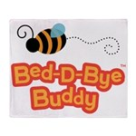 Bear and Bee Bed-D-Bye Buddy Throw Blanket