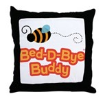 Bear and Bee Bed-D-Bye Buddy Throw Pillow