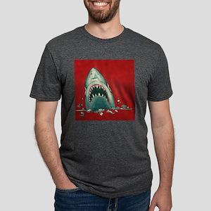 Shark Attack Mens Tri-blend T-Shirt
