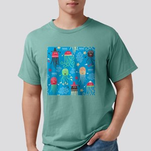 Silly Octopus Mens Comfort Colors Shirt