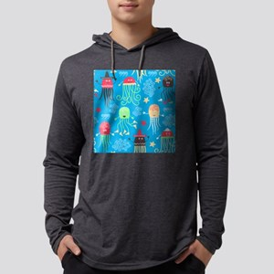 Silly Octopus Mens Hooded Shirt