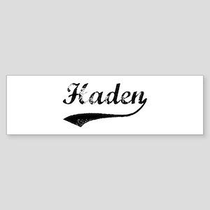 Vintage: Haden Bumper Sticker