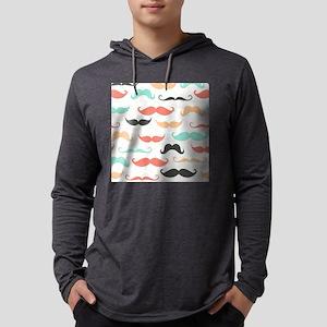 Mustache Mens Hooded Shirt