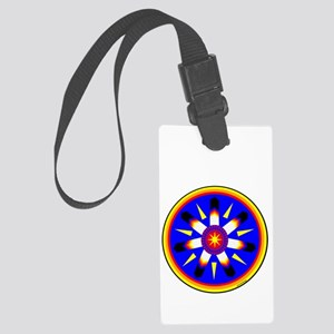 EAGLE FEATHER MEDALLION Large Luggage Tag