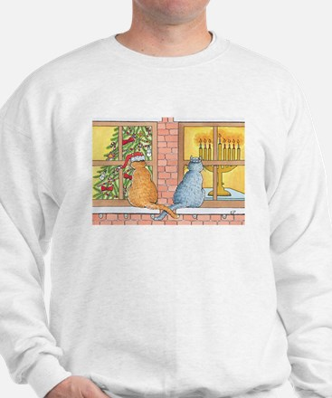 Chrismukkah Curious Cats Jumper
