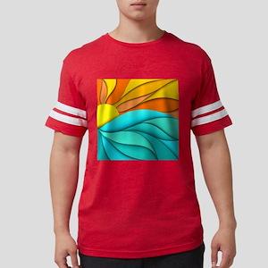 Abstract Ocean Sunset Mens Football Shirt