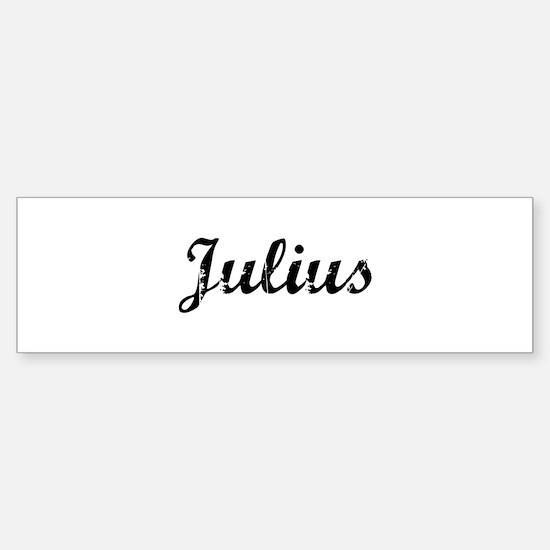 Vintage: Julius Bumper Bumper Bumper Sticker