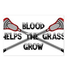 Lacrosse blood helps the Postcards (Package of 8)