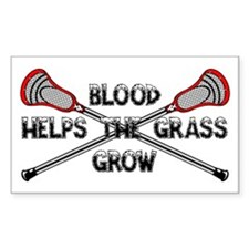 Lacrosse blood helps the grass Sticker (Rectangle)
