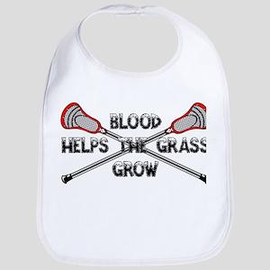 Lacrosse blood helps the grass grow Bib