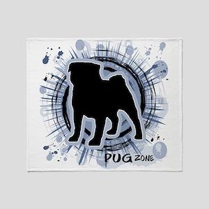 Pug Zone Throw Blanket
