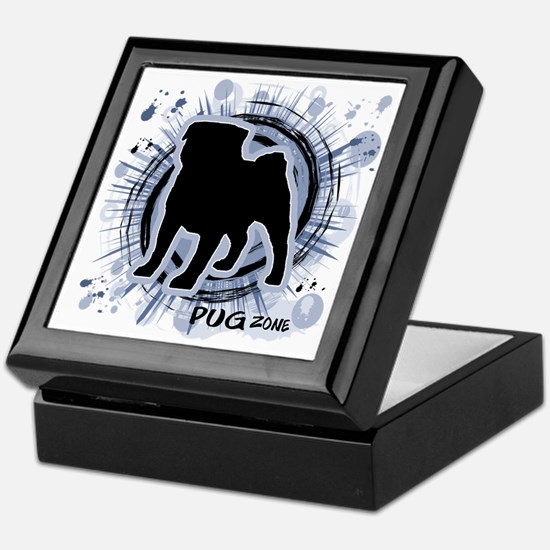 Pug Zone Keepsake Box