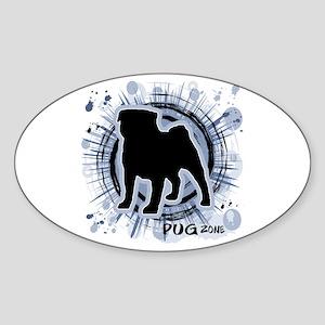 Pug Zone Sticker (Oval)
