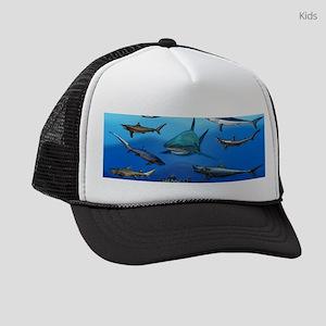 Shark Gathering Kids Trucker hat