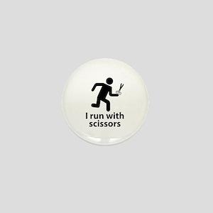 I run with scissors Mini Button