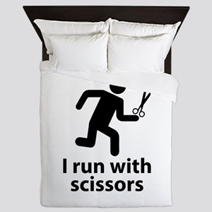 I run with scissors Queen Duvet