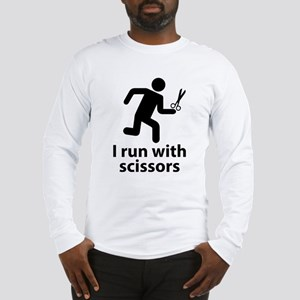 I run with scissors Long Sleeve T-Shirt